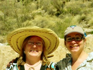 Me and Phylise at Sabino Canyon