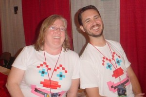 Brenda and Wil Wheaton at Phoenix Comicon 2009