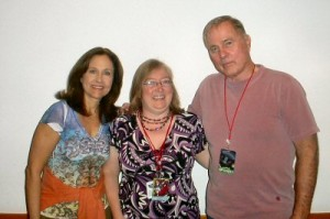 Erin Gray, me, and Gil Gerard