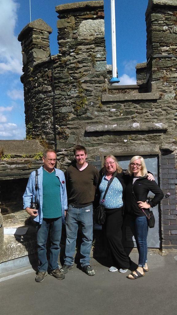 Steve, Eric, Brenda, and Heidi on the roof of Enniscorthy Castle.